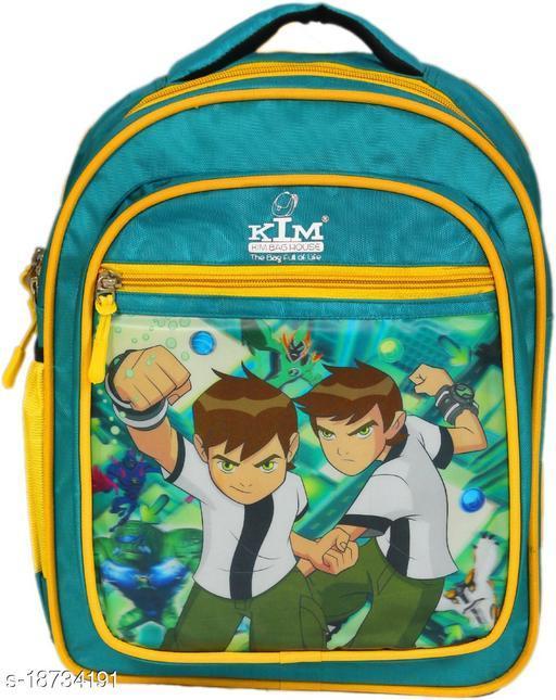 Kim Bag Green Polyester Ben 10 Waterproof School Bag