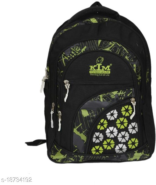 Kim Bag Green Polyester Bagpack for Teenagers   Suitable for College and School