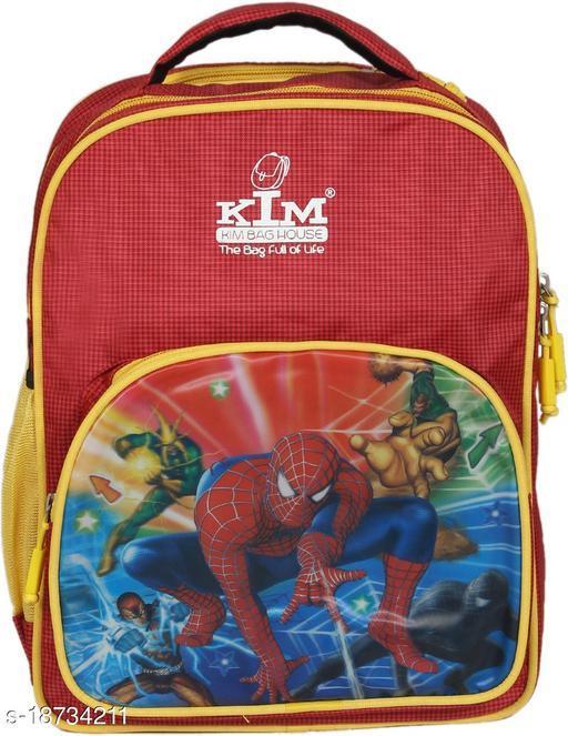 Kim Bag Red Polyester Waterproof Nursery/Play School Bag For Kids