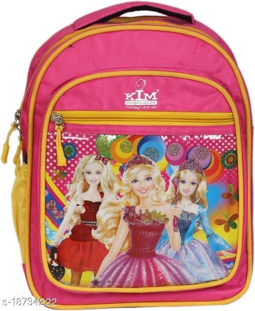 Kim Bag Pink Polyester Waterproof School Bag