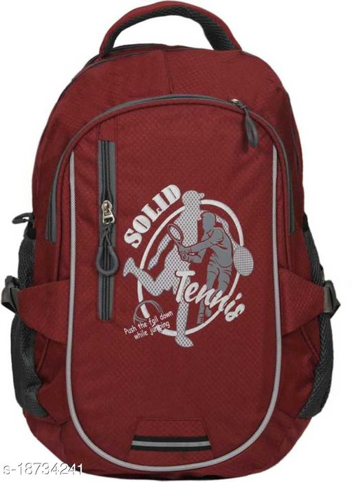 Kim Bag Maroon Polyester Bagpack for Teenagers | Suitable for College and School