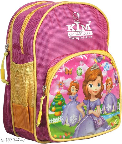 Kim Bag Pink Polyester Barbie School Bags