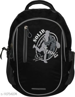 Kim Bag Black Polyester Bagpack for Teenagers | Suitable for College and School
