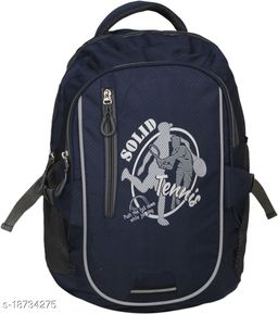 Kim Bag Blue Polyester Bagpack for Teenagers | Suitable for College and School