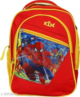 Kim Bag Red Polyester Bagpack for Teenagers | Suitable for College and School
