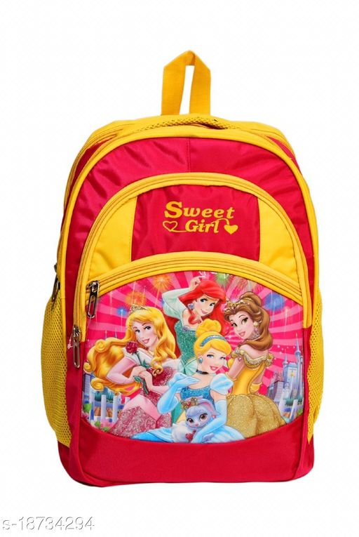 Kim Bag Yellow Polyester Bagpack for Teenagers | Suitable for College and School