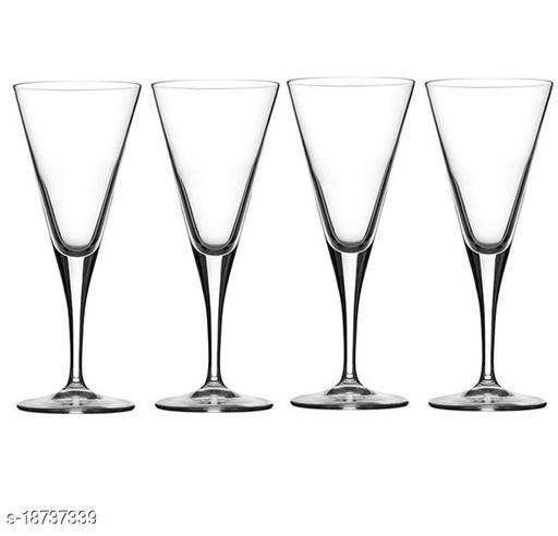 Afast New Stylish & Designer Baverage Tumbler Multipurpose Clear Glass (Set Of 4)-GZ55