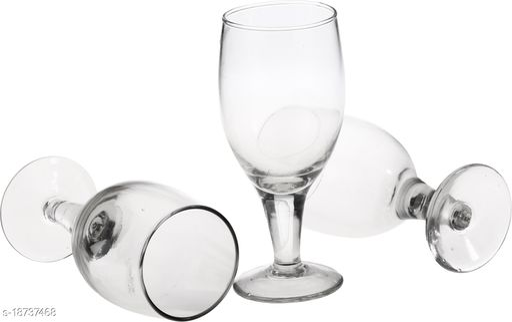 Afast New Stylish & Designer Baverage Tumbler Multipurpose Clear Glass (Set Of 3)-GL43