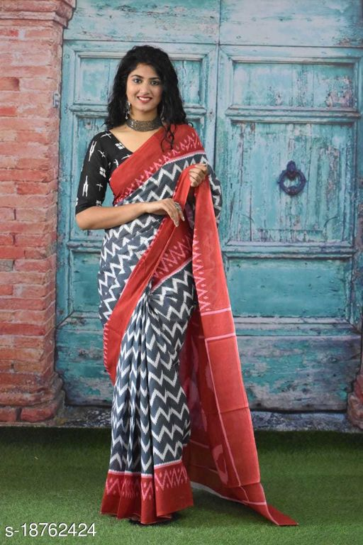 Mul cotton saree