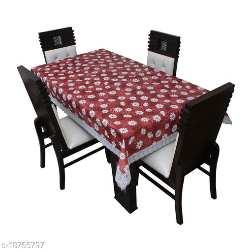 """Star Weaves Table Cover 6 Seater ,  Size 54""""x78"""" Inches"""