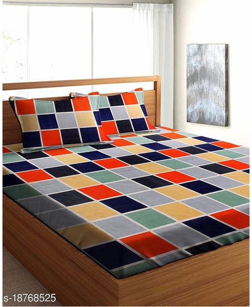 PLEDGE CREATIONS ® DOUBLE BED BEDSHEETS WITH 2 PILLOW COVERS