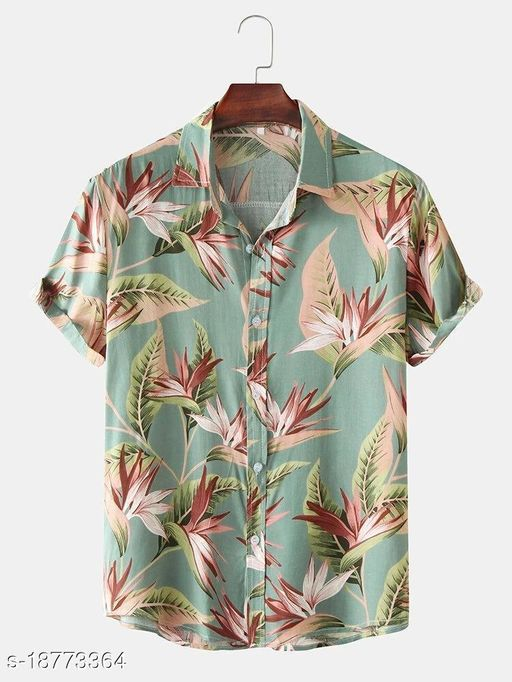 Floral Print Turn Down Shirts(Stiched Size-XL)