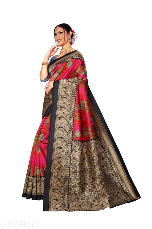 Trendy Art Silk Printed Saree with Latest Design