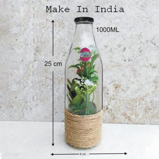 Afast Multi Purpose Glass Transparent Milk Bottle, 1 Bottle, 1000 Ml_1