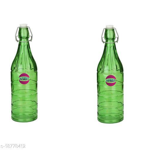 Afast Colorful Designer Glass Bottle (Set Of 2)-HG7_1