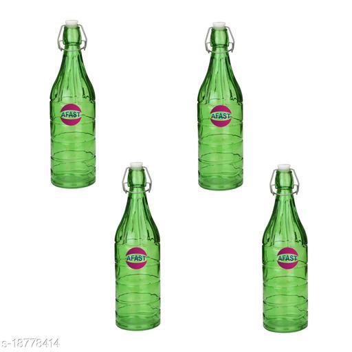 Afast Colorful Designer Glass Bottle (Set Of 4)-HG6_1