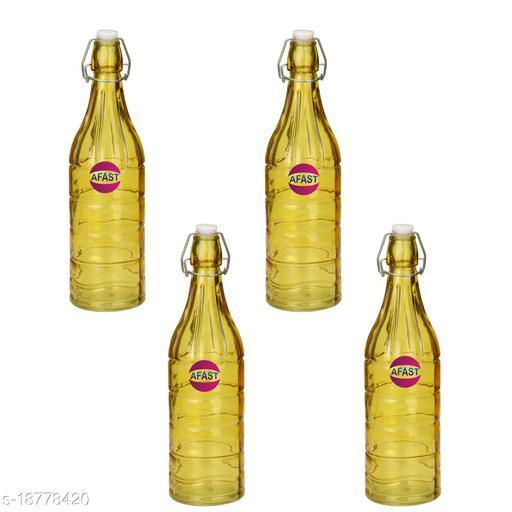 Afast Colorful Designer Glass Bottle (Set Of 4)-HG8_1