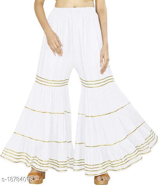 LA25's Women's cotton Designer Sharara | Soft Premium Fabric | sharara for Elegent look | SHERIN GHARARA