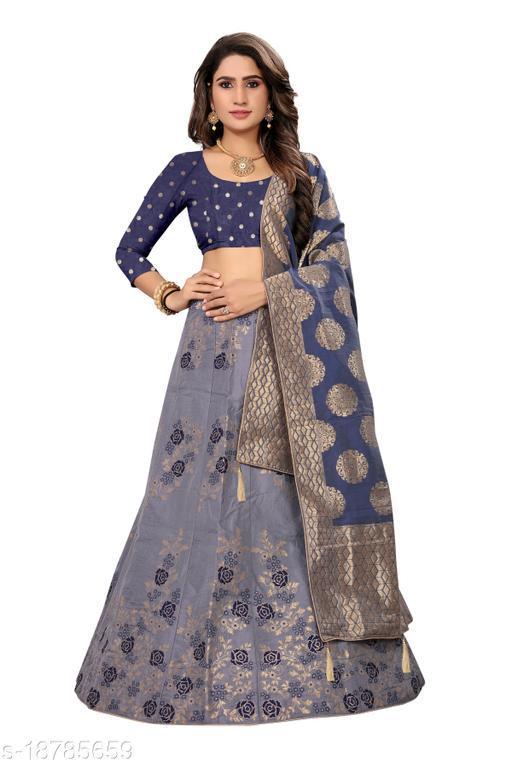 Women's Silk jacquard lehenga choli