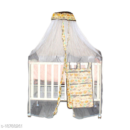 Baby Steel Cot with Mosquito Net, Bassinet for New Born Baby