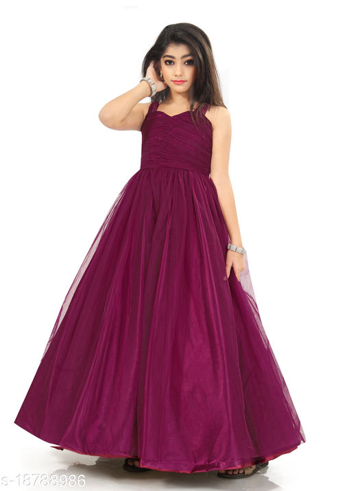 Kids Ethanic Gown Dress For Girls