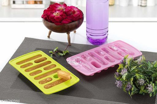 Ice Tray for Fridge Freezer Long Big Cubes Mould Large Cubes - Set of 2