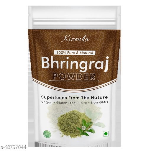 Kizenka Natural Bhringraj Powder for hair growth and conditioning - 250g