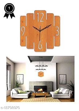 Wooden Modern Design Wall Clock for Home Wall Décor