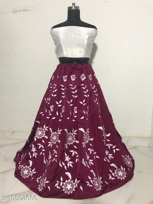 Embroidery Skirts With Blouse