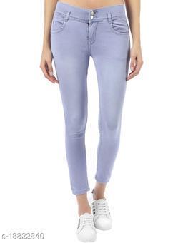 RAPO women's colour stretchable eans