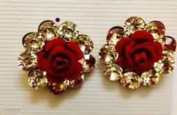 beautiful rose flower  earing pack of 1 pair