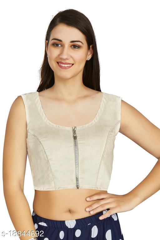 Aastha Fashion Designer Art silk Off White Blouse