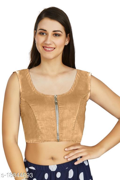 Aastha Fashion Designer Art silk Beige Blouse