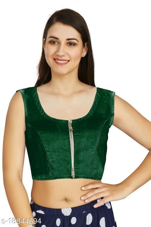 Aastha Fashion Designer Art silk Green Blouse