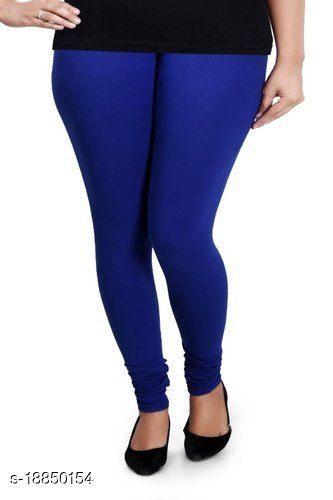 Royal Blue -  trendy latest Ultra Soft Cotton Churidar Solid Regular and Plus 45 Colours Leggings for Womens and Girls.100% cotton and 100% gaurantee.