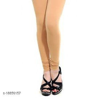 Light camel skin -  trendy latest Ultra Soft Cotton Churidar Solid Regular and Plus 45 Colours Leggings for Womens and Girls.100% cotton and 100% gaurantee.