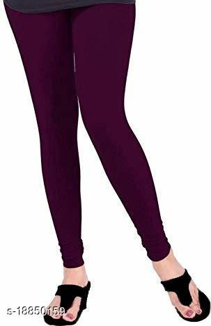 Dark purple - trendy latest Ultra Soft Cotton Churidar Solid Regular and Plus 45 Colours Leggings for Womens and Girls.100% cotton and 100% gaurantee.
