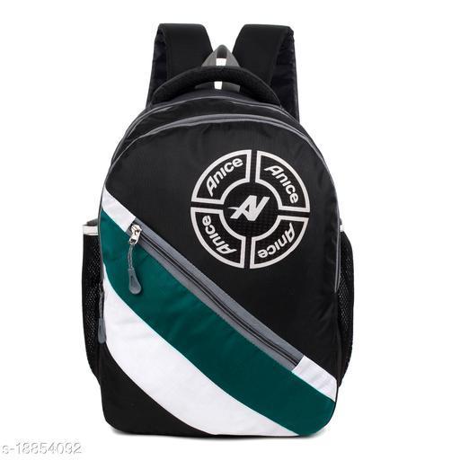 Trendy Men's Green Nylon Backpacks