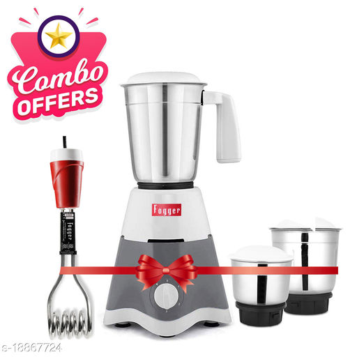 Special Combo Offer Star Grey 3 Jar Mixer Grinder With Red 1500 Immersion rod