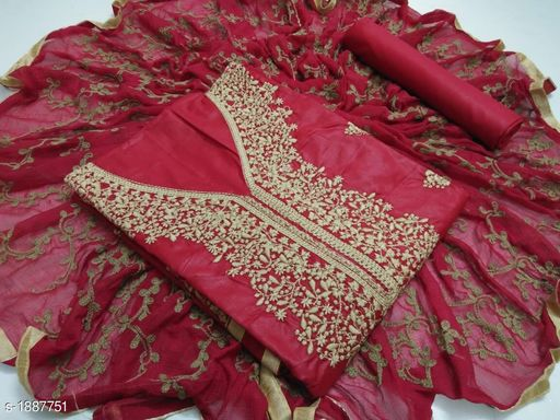 Attractive Embroidered Cotton Suits & Dress Material