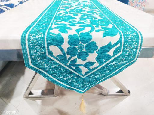 Groki Cotton Designer Table Runner (See Green)