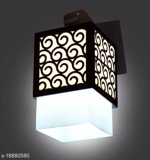 Gojeeva Wall lamp/Wall Light Decorative for Living Room Bedroom Living Room and All Home Décor Wood Surface Mounted Classic Sconce New Styles  Lamp Shade Unique Fitting and All Fixture Complete Set(Pack of 1)