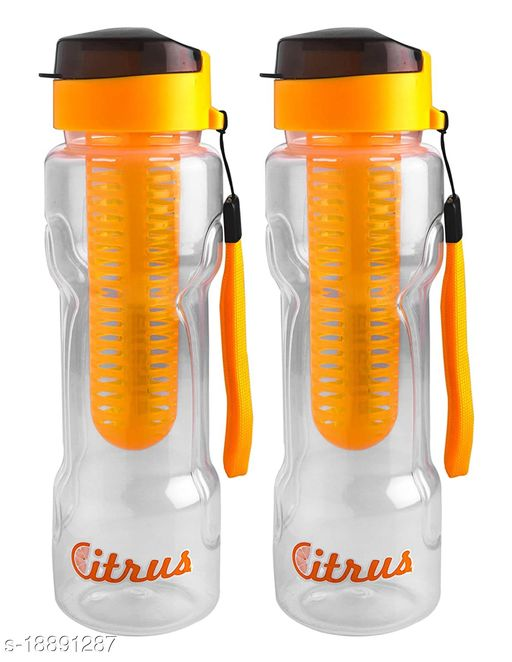 SAURA Hydro Infuser Bottle, Set of 2 - Yellow