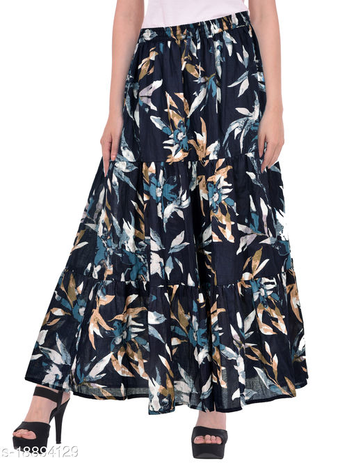 Women's Cotton Long Printed Skirt