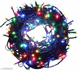 (3 Meter)(Multi)LED Rice Light Powered Copper Wire for Decoration, Diwali, Christmas Tree, Festival Decoration Lights (Pack of 4)
