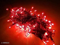 (3 Meter)(Red)LED Rice Light Powered Copper Wire for Decoration, Diwali, Christmas Tree, Festival Decoration Lights (Pack of 5)