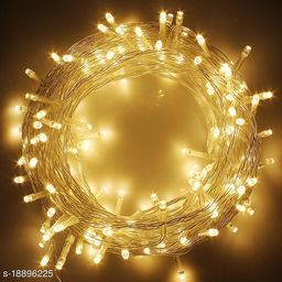 (3 Meter)(WARM WHITE)LED Rice Light Powered Copper Wire for Decoration, Diwali, Christmas Tree, Festival Decoration Lights (Pack of 2)