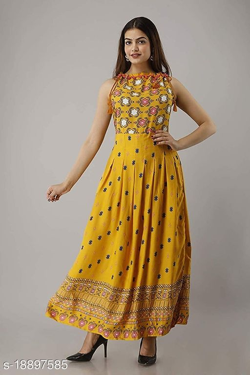 Tribal Printed Sleeveless Gown