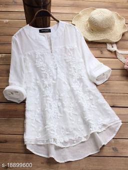 SHREE LAXMI FASHION Present Yellow Cotton flex net Embroidery Stitched Top For Women's (SLFTP-TLS-WHITE)