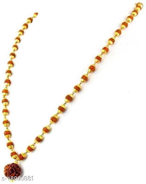 Religious jewellery Big Rudraksh Locket With Original Panchmukhi Rudraksh Mala Rare collection pack of 1